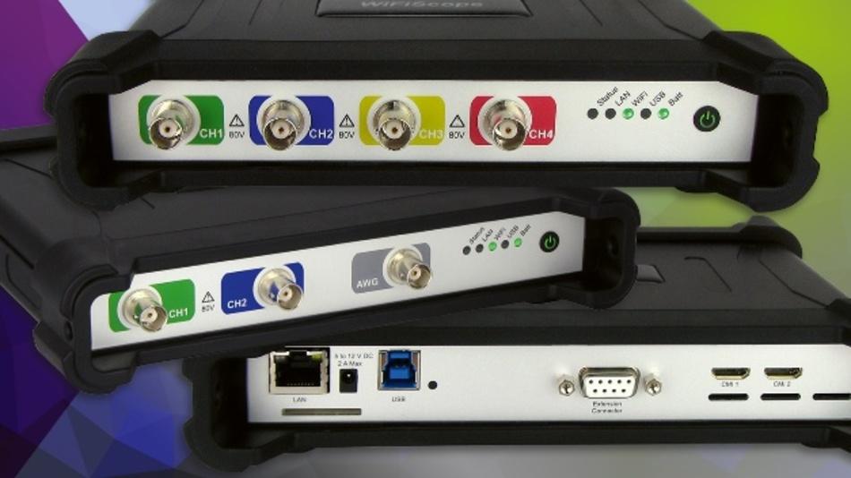 Per Plug&Play mit dem PC verbinden und los geht's mit den neuen Oszilloskopen von TiePie (Vertrieb: Plug-in)
