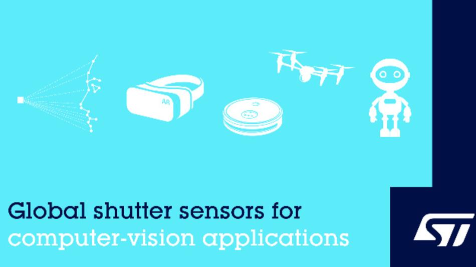 STMicroelectronics hat mit dem Vertrieb von zwei neuen Bildsensoren für Computer-Vision-Anwendungen begonnen.