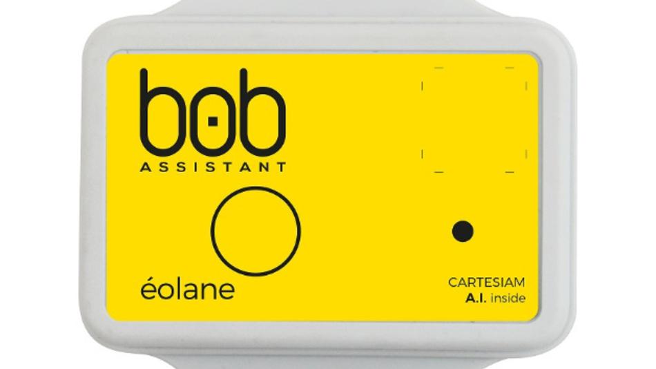 Mit KI von Cartesiam ausgestattet ist der LoRa-Schwingungssensor »BOB-Assistant« von Éolane.