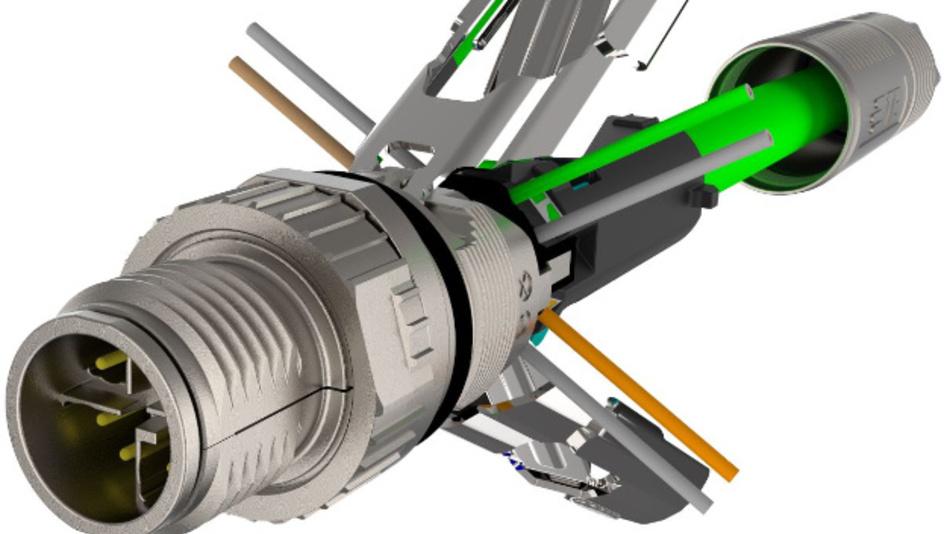 Feldkonfektionierbarer High-Speed-M12-Stecker:  TE Connectivity präsentiert einen IEC 61076-2-109-konformen, feldkonfektionierbaren M12-Kabelstecker mit X-Kodierung. Da sich dieser Stecker ohne Spezialwerkzeug anschließen lässt, können Kabelinstallateure und Maschinenbauer Cat6A-Verbindungen für 10 GBit/s schnell aufbauen. Eine zeitaufwändige spezielle Vorbereitung der Leitungsadern ist nicht notwendig, da das Drahtabschneiden automatisch geschieht. Der Steckverbinder ist einfacher zu installieren als klassische Lösungen und verringert die Wahrscheinlichkeit von Fehlern während der Installation.