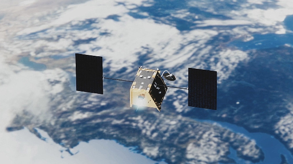 Ein Satellit von OneWeb Satellites.