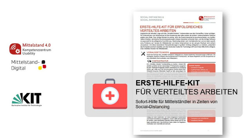 Das Erste-Hilfe-Kit für erfolgreiches verteiltes Arbeiten unterstützt Unternehmen bei der krisenbedingten Umorganisation ihrer Arbeit