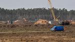 Teslabeantragt Fundament für Fabrik in Grünheide
