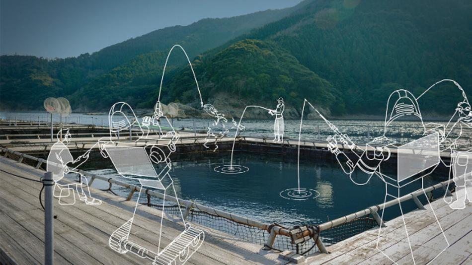 ANA testet bereits an einem Hafen in der Präfektur Oita Avatare, um Menschen zum Erlebnis des Fischens zu verhelfen, obwohl sie nicht vor Ort sind.