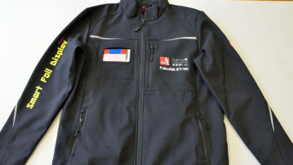 Eine Jacke, auf die die entwickelten Displays aufgebracht werden.