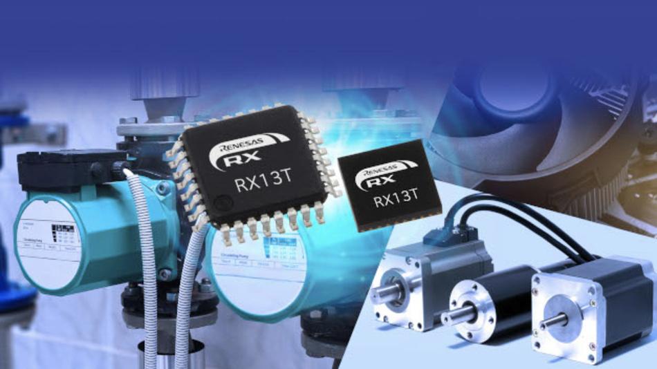 Mit dem Mikrocontroller RX13T will Renesas den Bau kompakter Motorsteuerungen ermöglichen.