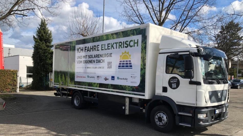 »Lade-PV« heißt das Projekt mit dem vier Industrieunternehmen und zwei Fraunhofer-Institute Photovoltaik in Lastwagen integrieren wollen.