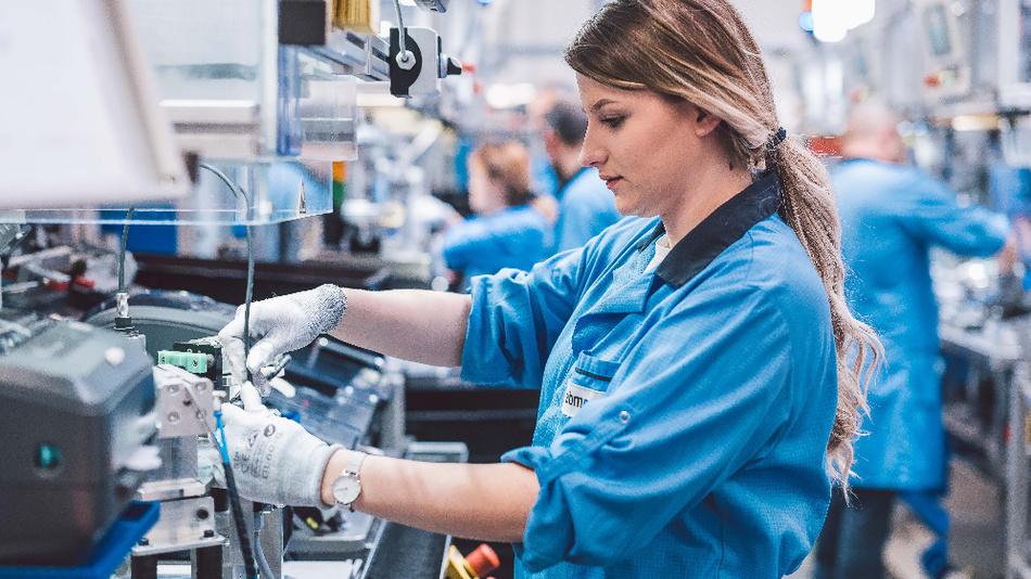 Produktion von Antrieben für die Medizintechnik.