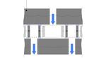 Prinzip des elektrostatischen MEMS-Schallwandler.