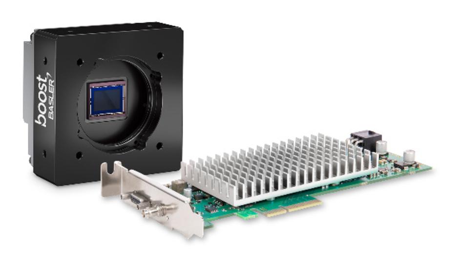 Die Basler CXP-12 Interface Card 1C bietet eine maximale Bandreite von 12,5 Gbps via 1-Kanal Micro-BNC (HD-BNC) Anschluss.