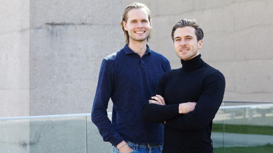 Sebastian Schaal (r.) und Timon Ruban, Gründer von Luminovo.
