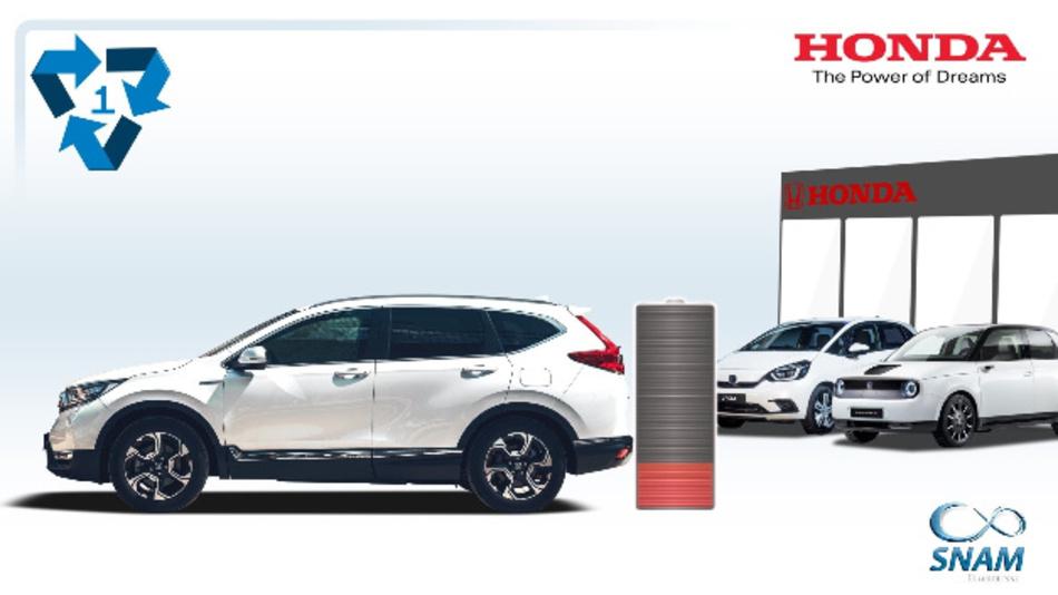 SNAM wird künftig die Lithium-Ionen- und Nickel-Metallhydrid-Akkus von Honda-Hybrid- und Elektrofahrzeugen in 22 Ländern einsammeln.