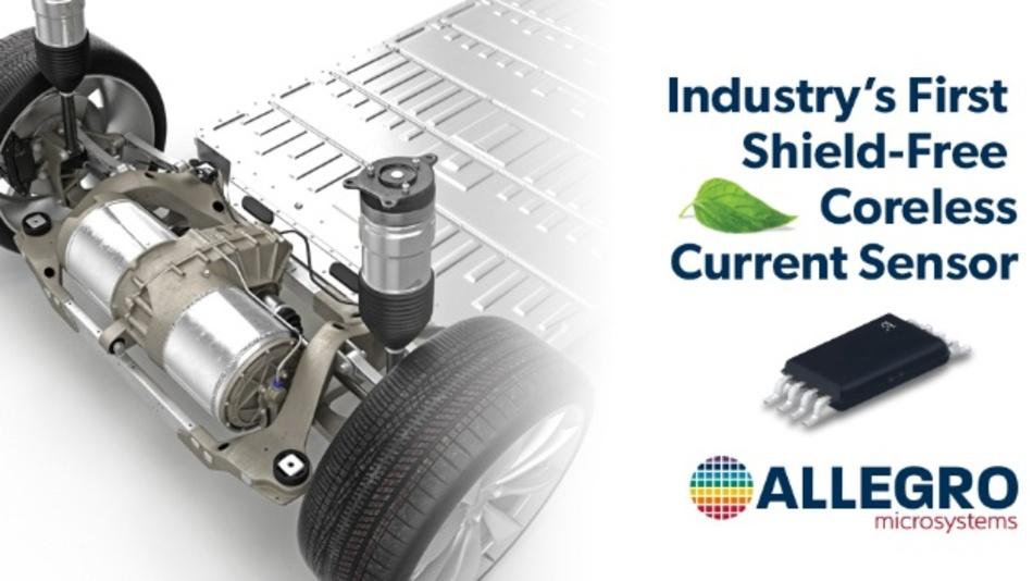 Allegros hochkompakter Sensor im SSOP8-Gehäuse liefert präzise Strommessungen für Anwendungen >200 A ohne Magnetkonzentratorkern oder Abschirmung.