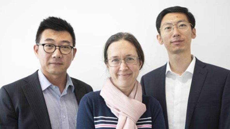 Das Gründungstrio von Porotech (v.l.n.r.): Dr. Tongtong Zhu (CEO), Professor Rachel Oliver (CSO), Dr. Yingjun Liu (CTO).