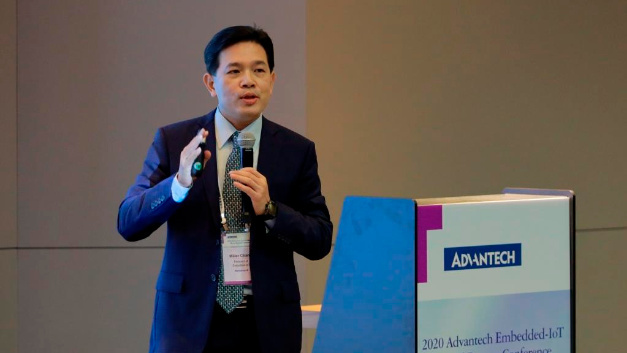 Figure 1: Embedded IoT President Miller Chang explains how Advantech plans to take advantage of its opportunities in digitalization.