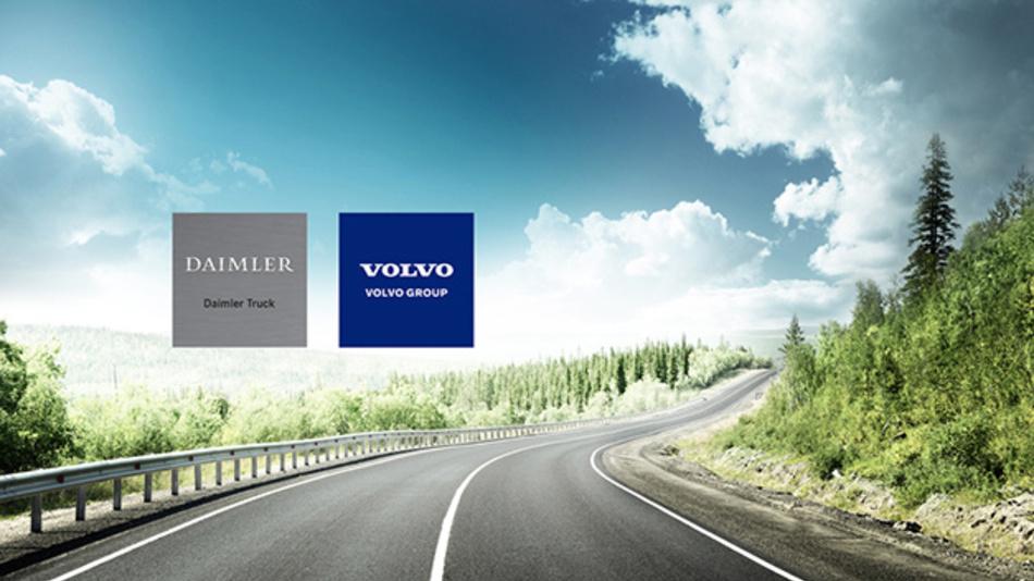 Daimler und Volvo wollen bis 2030 LKWs mit Brennstoffzellenantrieb in Serie herstellen.