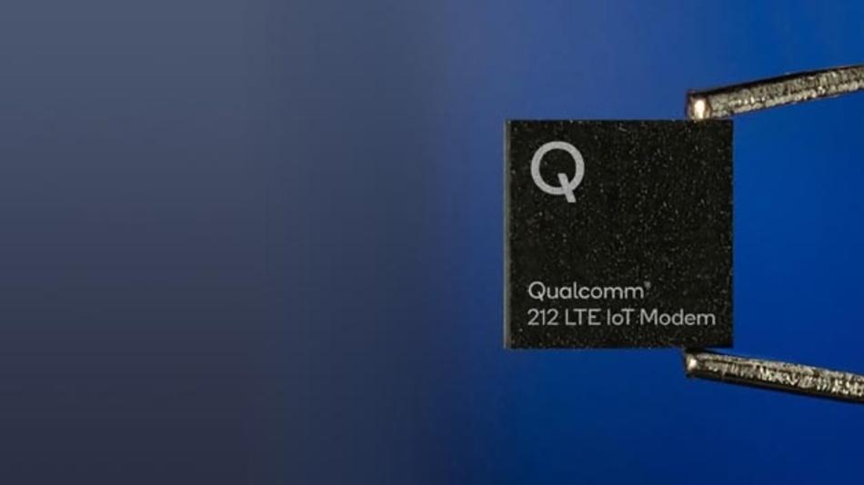 Das Qualcomm 212 LTE IoT-Modem baut Single-Mode-Verbindungen nach 3GPP Release 14 Cat. NB2 auf.