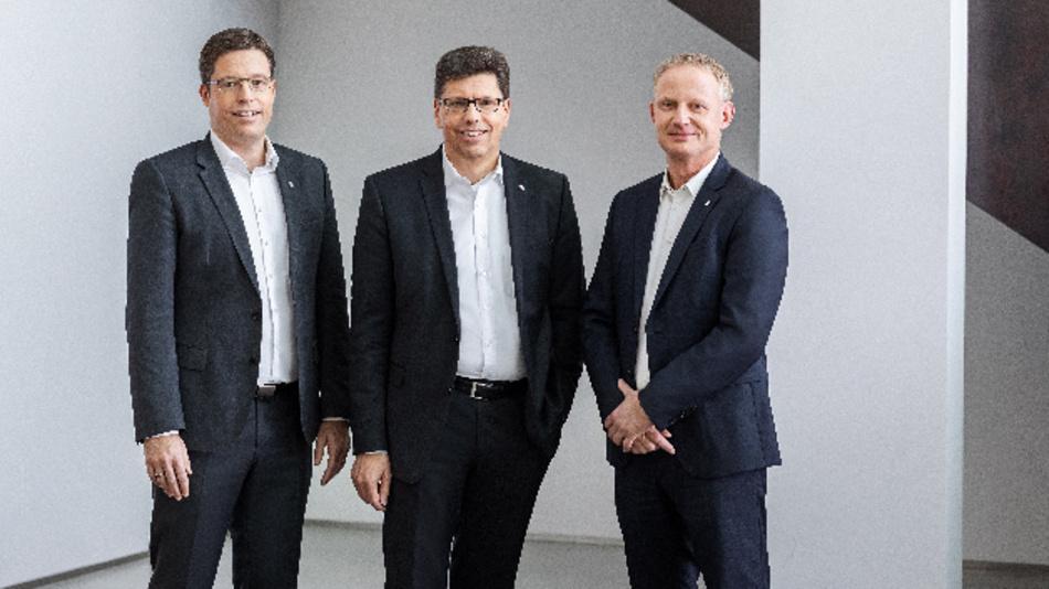 Der Vorstand der Weidmüller Gruppe blickt insgesamt auf ein durchwachsenes Jahr 2019 zurück und ist für 2020 zuversichtlich, als Unternehmen und Gesellschaft gestärkt aus der Krise hervorzugehen (v.l.n.r. Dr. Timo Berger, Volker Bibelhausen, André Sombecki).