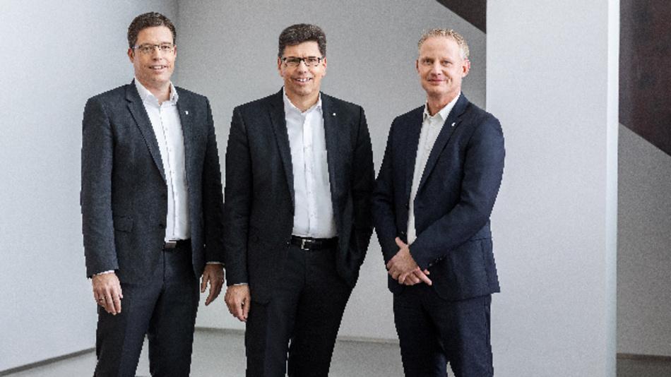 Der Vorstand der Weidmüller-Gruppe (v.l.n.r.): Dr. Timo Berger (Verbriebsvorstand), Volker Bibelhausen (Vorstandssprecher und Technologievorstand), André Sombecki (Finanzvorstand).