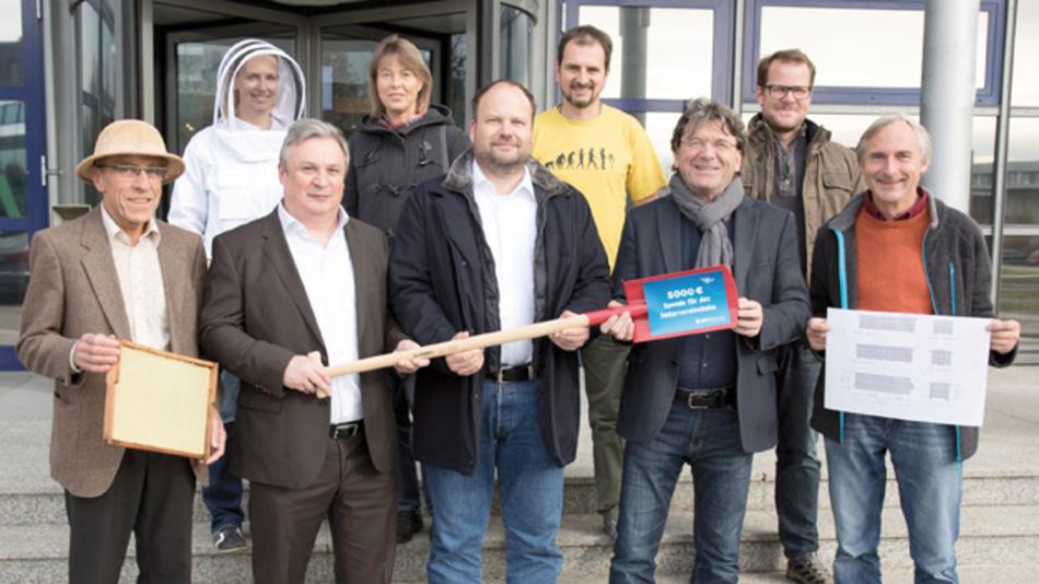 5000 Euro für die Wildbienen: Eine Spende von EBV und Partnern macht diese Unterstützung möglich.