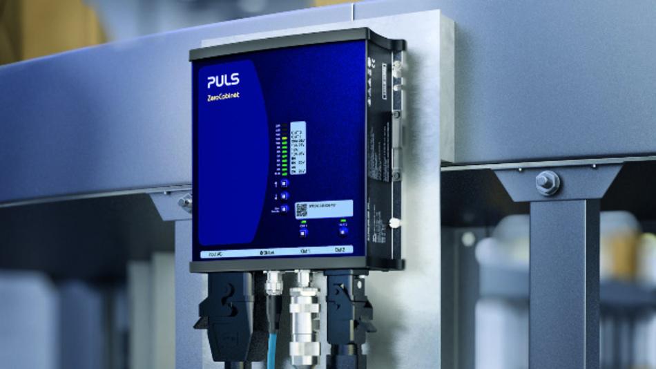 ZeroCabinet-Stromversorgungen von PULS sind eine ausgezeichnete Alternative zum dezentralen Schaltkasten, beispielsweise in weitläufigen Intralogistikanlagen.