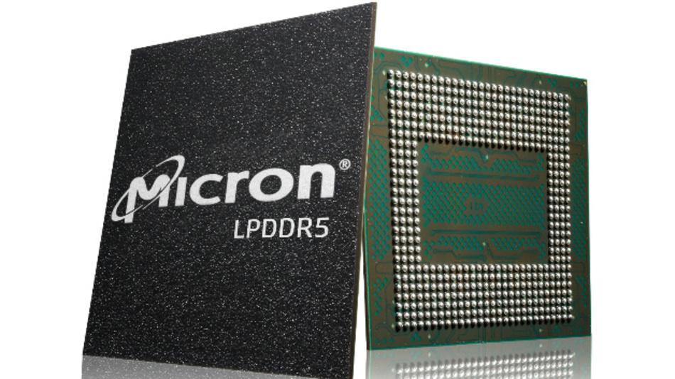Die LPDDR5-DRAM-Speicher von Micron.