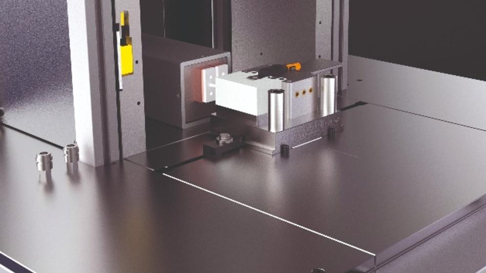 Das zu schützende Bauteil wird in ein spezielles Vergusswerkzeug eingelegt und mit dem Vergussmaterial ummantelt.