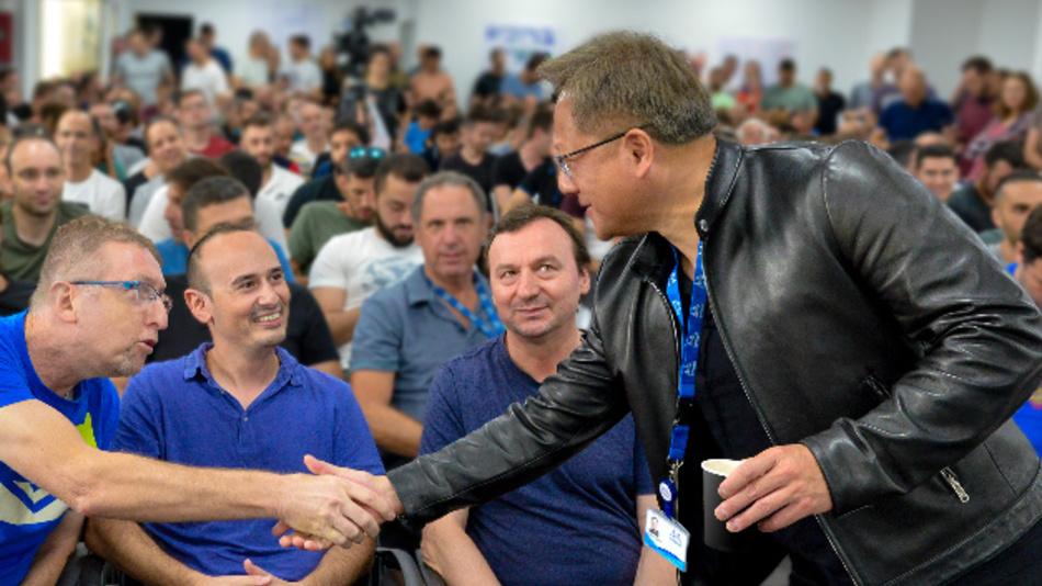 Jensen Huang, Gründer und CEO von Nvidia heißt das Mellanox-Team bei Nvidia willkommen.