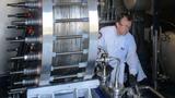 ZSW-Teststand für alkalische Druckelektrolyse-Blöcke mit einer elektrischen Leistung bis rund 100 Kilowatt.