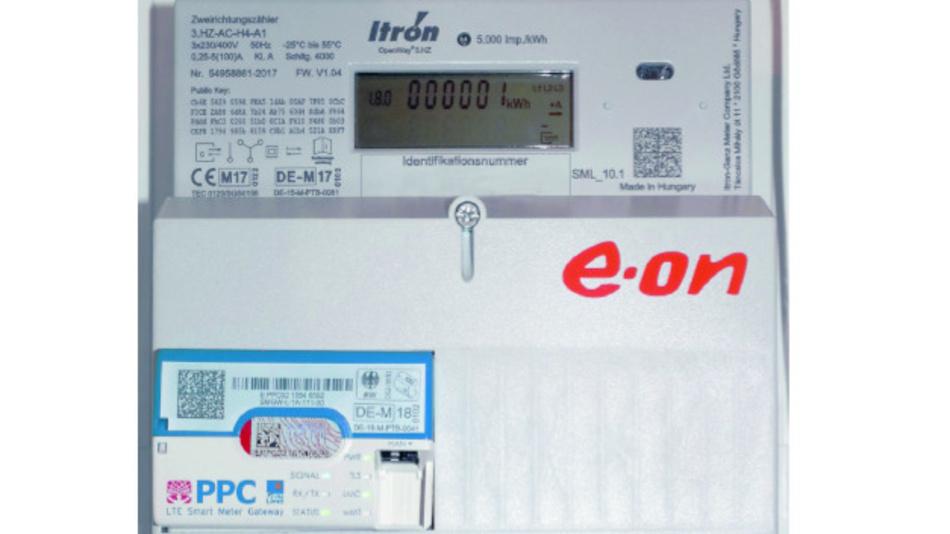 Bild1. Ein Smart Meter bestehend aus einem digitalen Zähler und einem Smart Meter Gateway.