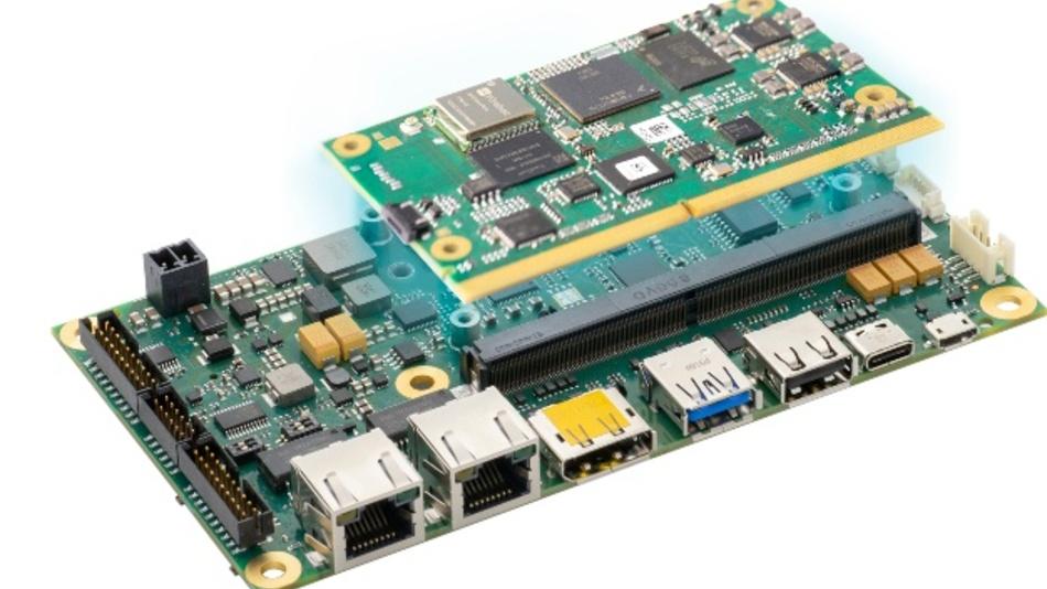 Die SimpleFlex-Plattform kombiniert ein Prozessormodul mit einem standardisierten Carrier Board.