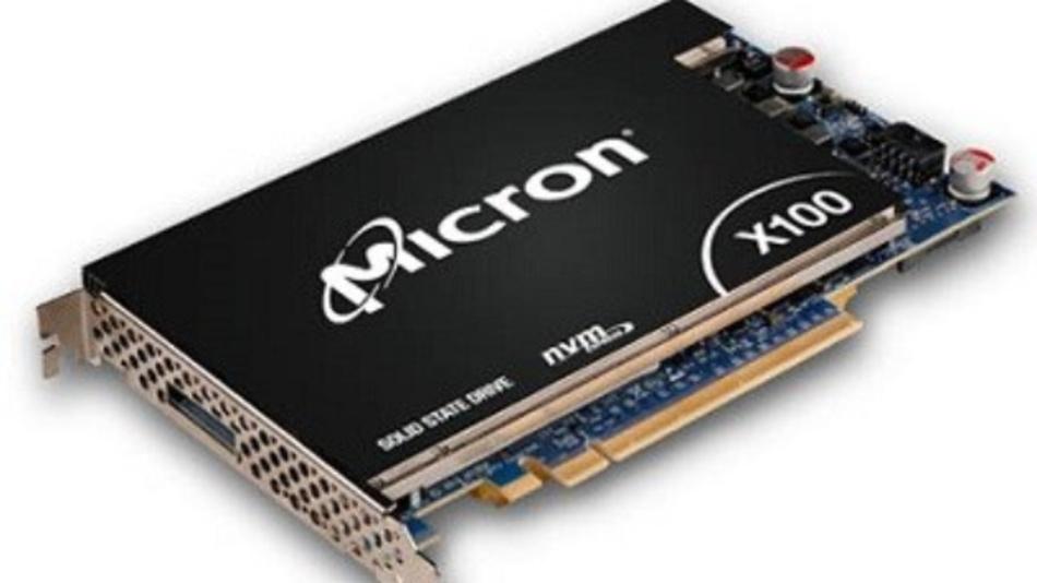 Die SSD »X100 NVMe« von Micron basiert auf der 3D XPoint-Technik. Die HSE kann die Leistungsfähigkeit solcher Speichermedien deutlich erhöhen.