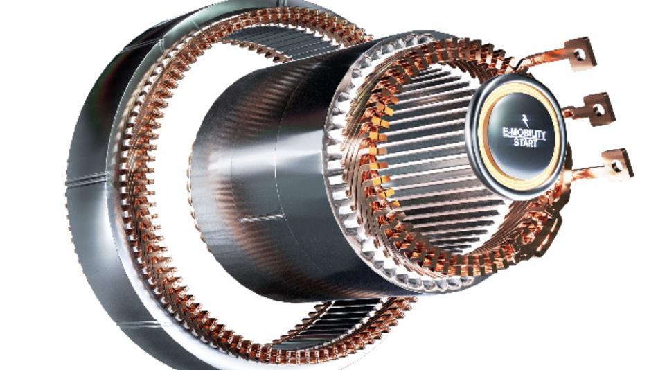 Mit neuer Fertigungstechnik entstanden: Statorprototypen mit kompakter Flachdraht-Wicklung