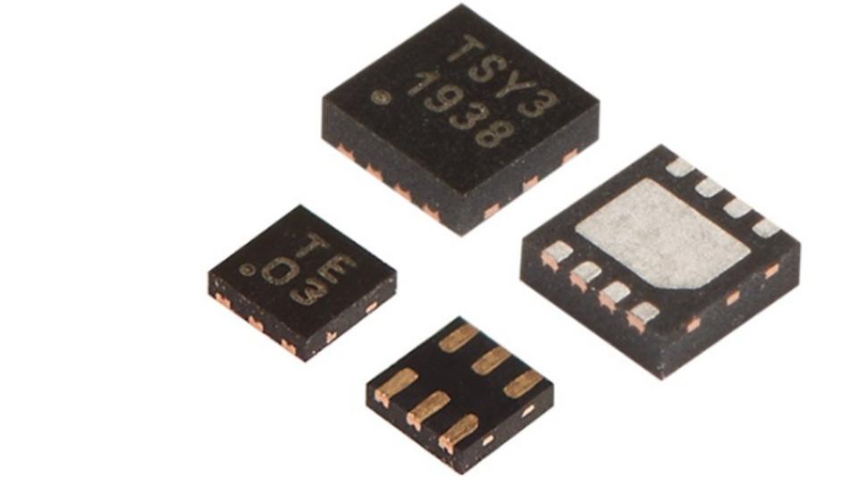 Beide Varianten des TSYS03: Im 2,5 mm x 2,5 mm TDFN8-Gehäuse und im XDFN6-Gehäuse mit 1,5 mm x 1,5 mm Grundfläche.
