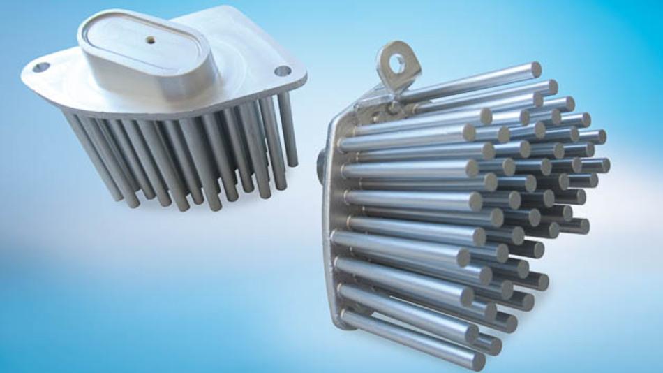 Bild 4: Beispiel für ein projektspezifisches Kaltfließpressteil zur Kühlung der vorderen Blinker-LED.