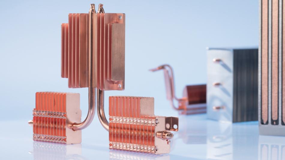 Bild 5: Heatpipes kommen dort zum Einsatz, wo der Einbauraum für eine direkte Kühlkörperanbringung zu klein ist.