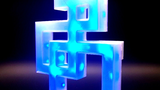 Gestengesteuerte Lampe aus dem 3D-Drucker.