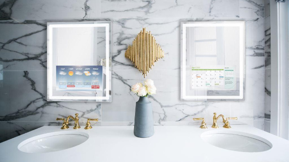 Der Smart Mirror als Badezimmer-Spiegel.