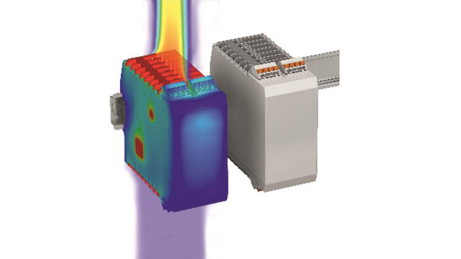 Bild 3: Durch Simulation der thermischen Verhältnisse in elektronischen Geräten wird die Platzierung wärmekritischer Bauelemente schon frühzeitig im Entwicklungsprozess berücksichtigt.