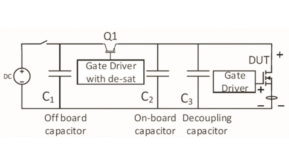 Bild 1a: Schaltbild des Testaufbaus