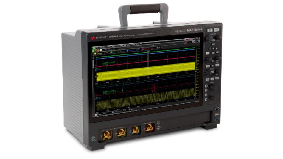 Einstiegsmodell aus der neuen MXR-Oszilloskopfamilie: 4 Kanäle, 500 MHz Bandbreite, 10 bit Auflösung - aber auf volle 6 GHz und 8 Kanäle erweiterbar.