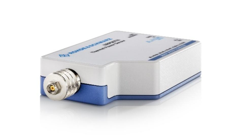 Die neuen Leistungssensoren R&S NRP90T und R&S NRP90TN von Rohde & Schwarz für Frequenzen bis 90 GHz integrieren erstmals den neuen E-Steckverbinder.