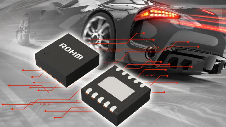 Stabilisierter Einkanal-LED-Treiber-IC im 30 mm x 30 mm Gehäuse für kompakte Treiberschaltungen mit 600 mA Ausgangsstrom.