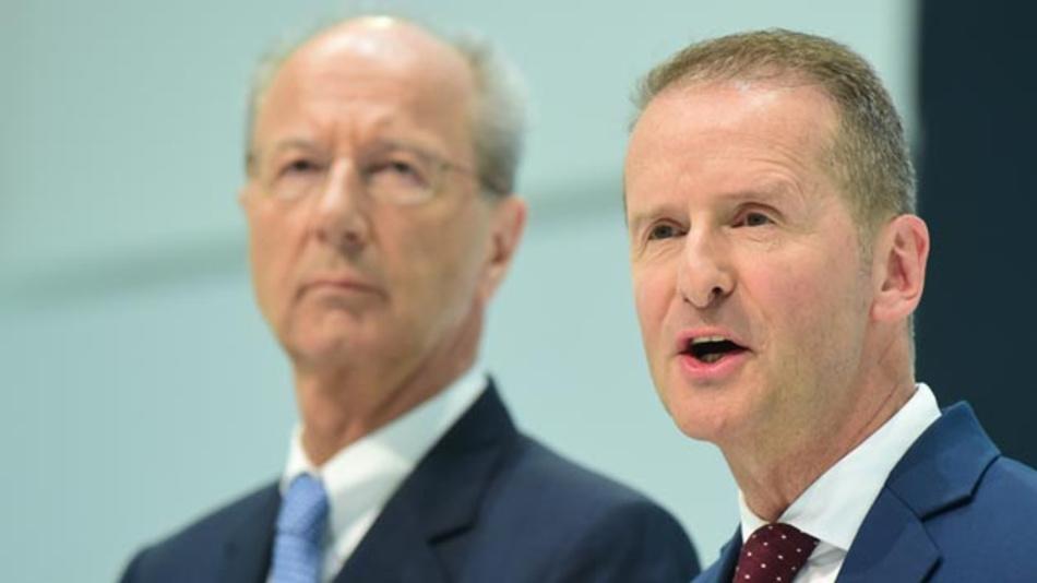 Das Strafverfahren wegen möglicher Marktmanipulation gegen VW-Konzernchef Herbert Diess und Aufsichtsratschef Hans Dieter Pötsch soll gegen eine Zahlung von neun Millionen Euro eingestellt werden.