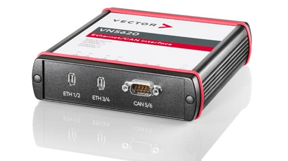 Das Netzwerk-Interface VN5620 für Automotive Ethernet und CAN/CAN FD von Vector Informatik