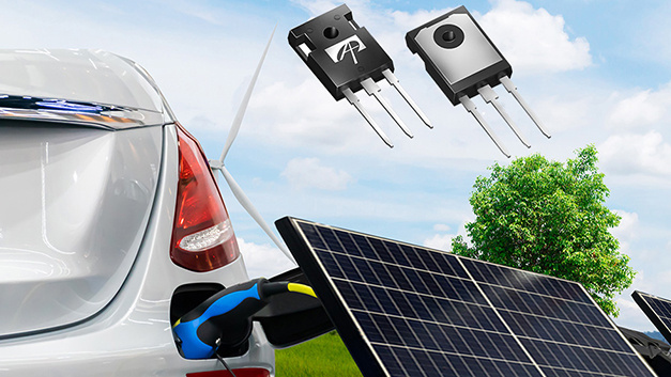 Die neuen Wide-Bandgap-Halbleiter von AOS sind auf die Industrie und den Automobilbereich ausgelegt.