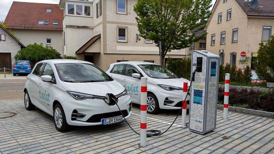 In Ehingen können die Bürger mit dem CarSharing-Projekt Twist ab sofort zwei Renault Zoe und auch Elektroroller zu günstigen Preisen ausleihen.