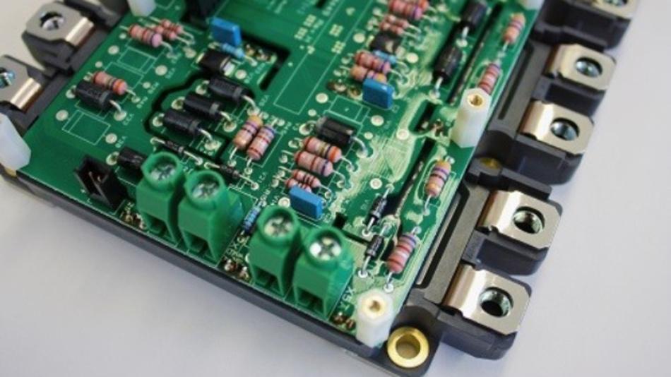 IGBT-Modul eines Umrichters einer Windenergieanlage.