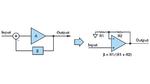 Bild 1. Negative Rückkopplung bei einem Operationsverstärker, der als nichtinvertierender Verstärker beschaltet ist.