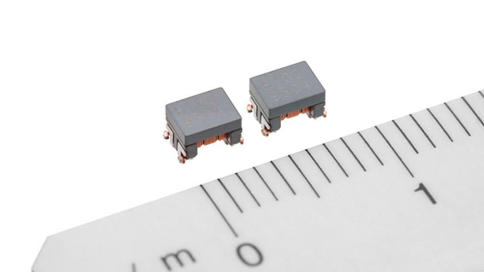 Die neuen Gleichtaktdrosseln für Automotive Ethernet sind wesentlich kleiner als CAN-Bus- oder FlexRay-Drosseln.